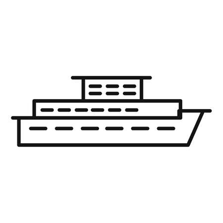 Sea cruise icon, outline style 矢量图像