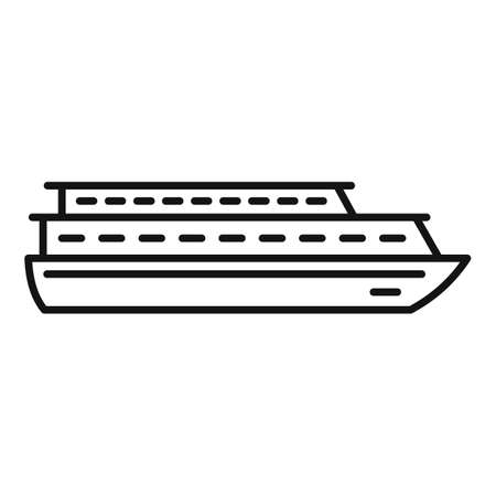 Vacation cruise icon, outline style