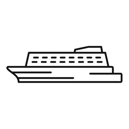 Water cruise icon, outline style