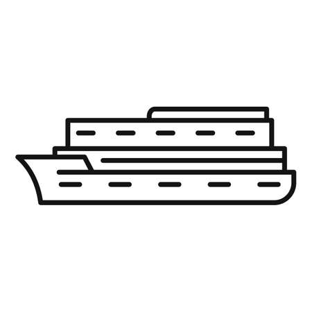 River cruise icon, outline style