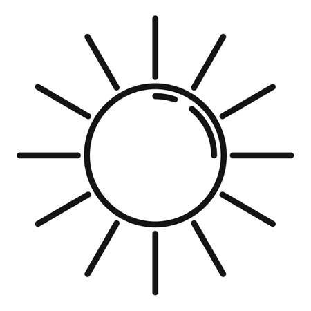 Cruise sunny day icon, outline style