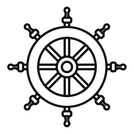 Cruise steering wheel icon, outline style