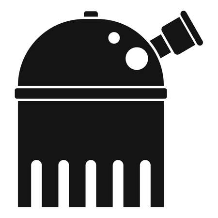 Educational planetarium icon, simple style
