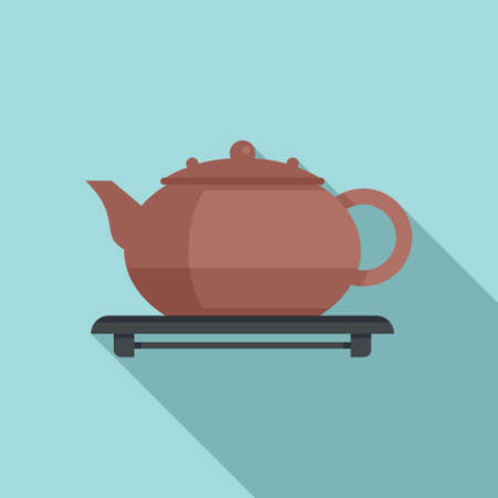 Tea ceremony icon, flat style