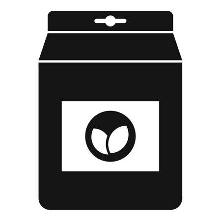 Tea leafs bag icon, simple style
