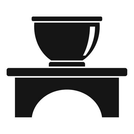 Gourmet tea ceremony icon, simple style
