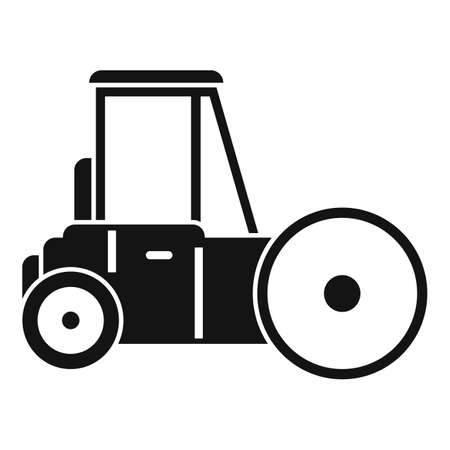 Road roller icon, simple style