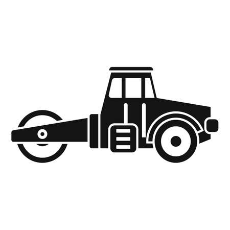 Maintenance road roller icon, simple style