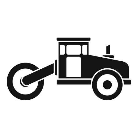 Asphalt road roller icon, simple style