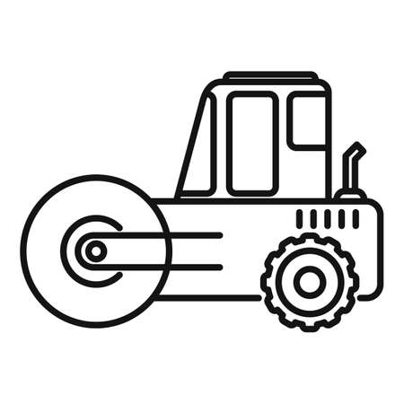 Heavy road roller icon, outline style