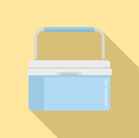 Portable fridge box icon, flat style 版權商用圖片 - 158949888