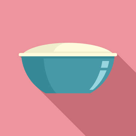 Bowl food storage icon, flat style 版權商用圖片 - 159120348
