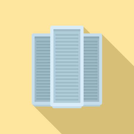 Storage boxes icon, flat style