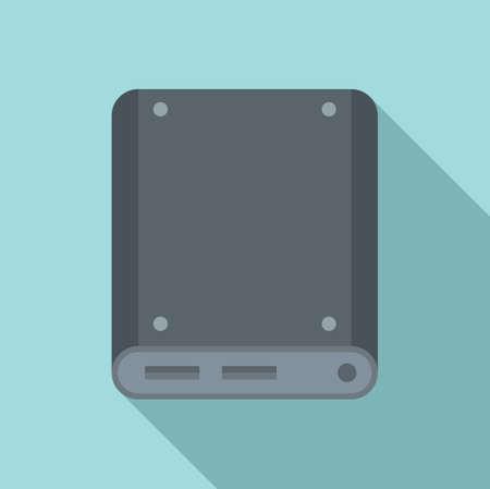 Storage ssd icon, flat style 向量圖像