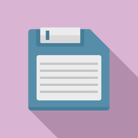 Storage floppy disk icon, flat style 版權商用圖片 - 158950048