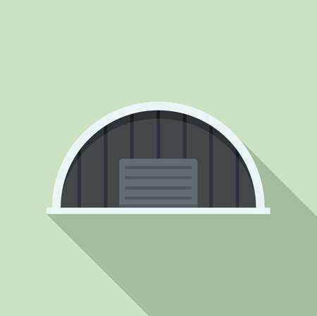 Storage hangar icon, flat style Illusztráció