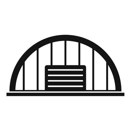 Storage hangar icon, simple style