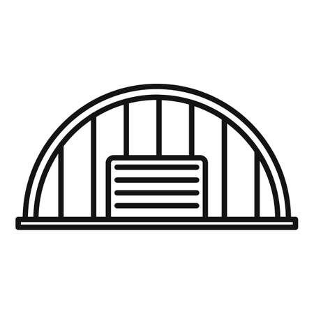 Storage hangar icon, outline style