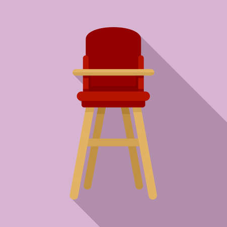 Furniture feeding chair icon, flat style Ilustrace