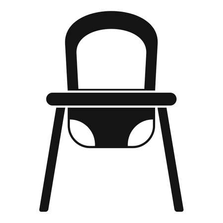 Baby feeding chair icon, simple style
