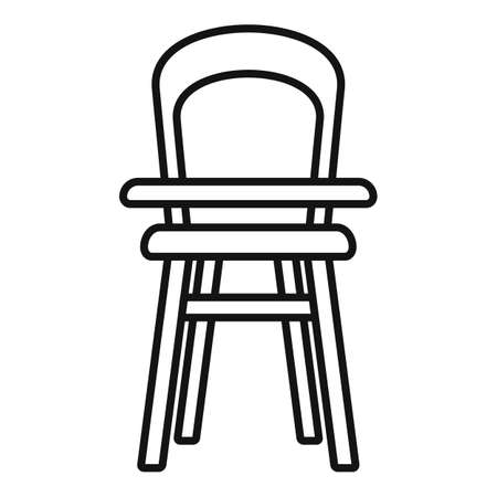 Home feeding chair icon, outline style Ilustração Vetorial