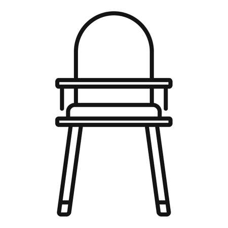 High feeding chair icon, outline style