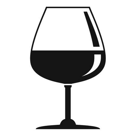 Object wineglass icon, simple style