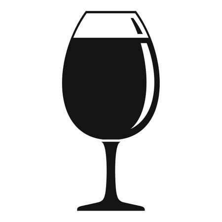 Restaurant wineglass icon, simple style