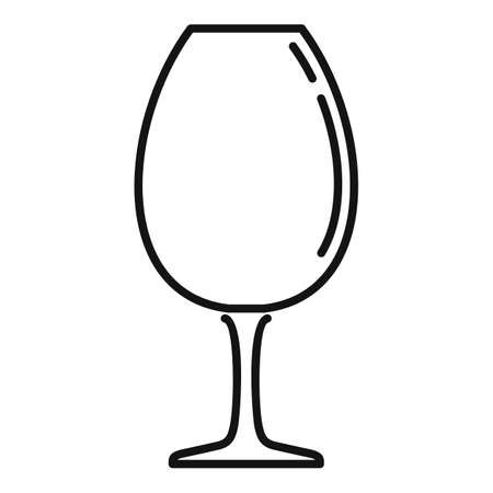 Beverage wineglass icon, outline style