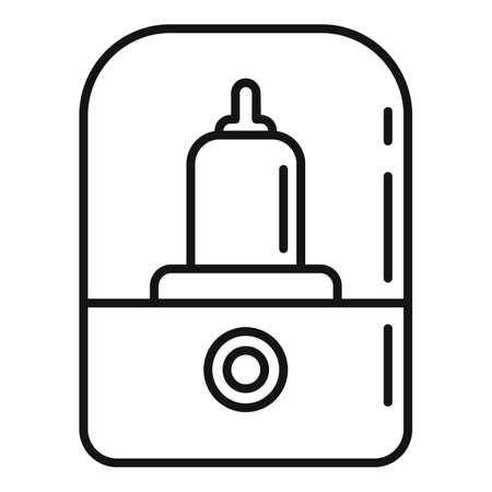 Baby bottle sterilizer icon, outline style Vecteurs