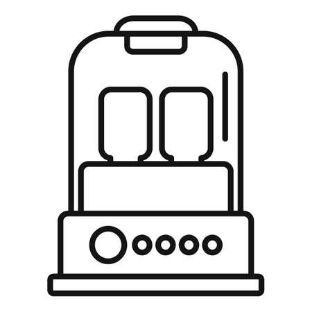 Milk bottle sterilizer device icon, outline style