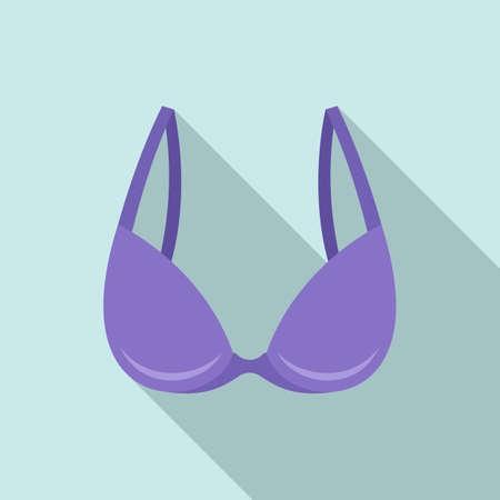 Thong bra icon, flat style