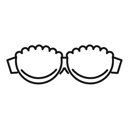 Balconette bra icon, outline style