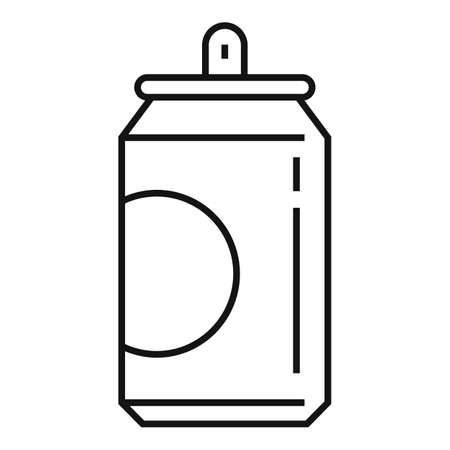 Soda tin can icon, outline style Ilustração