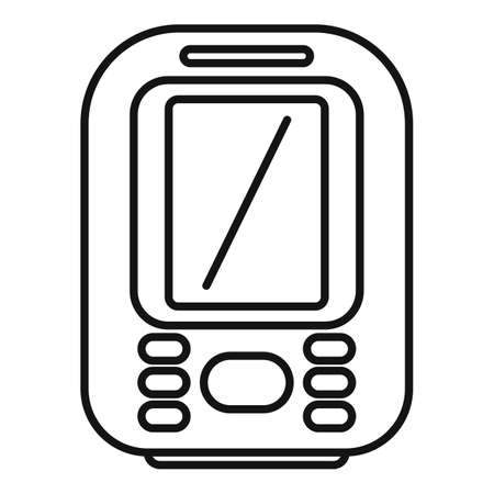 Display echo sounder icon, outline style