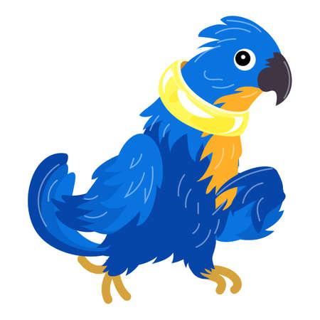Blue parrot icon, cartoon style 向量圖像