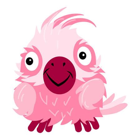 Parrot cockatoo icon, cartoon style