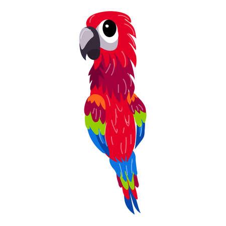 Red parrot icon, cartoon style 版權商用圖片 - 158916082