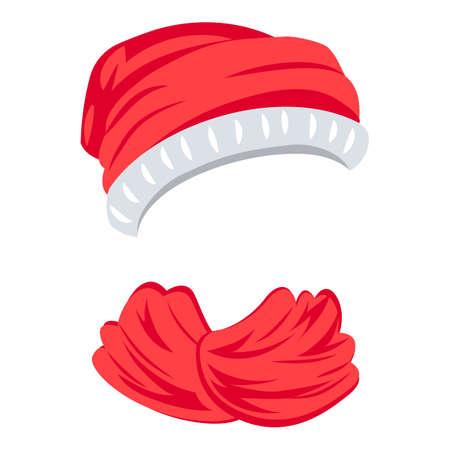 Christmas hat icon, cartoon style