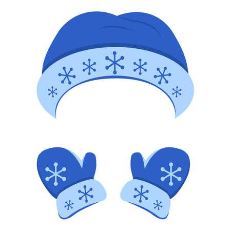 Winter snowflake headwear icon, cartoon style