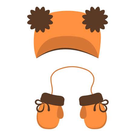 Winter cotton headwear icon, cartoon style