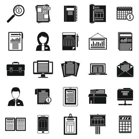 Cost estimator icons set, simple style