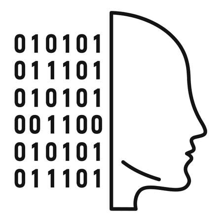 Artificial intelligence icon, outline style