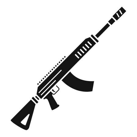 Rifle shoot icon, simple style