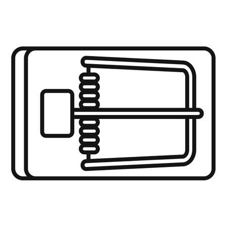 Wood mouse trap icon, outline style