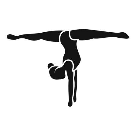 Girl stay hands gymnastics icon, simple style