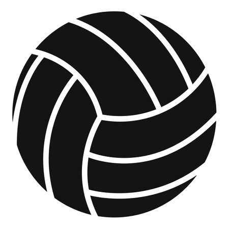 Volleyball ball icon, simple style