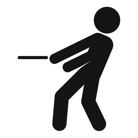 Business tug of war icon, simple style