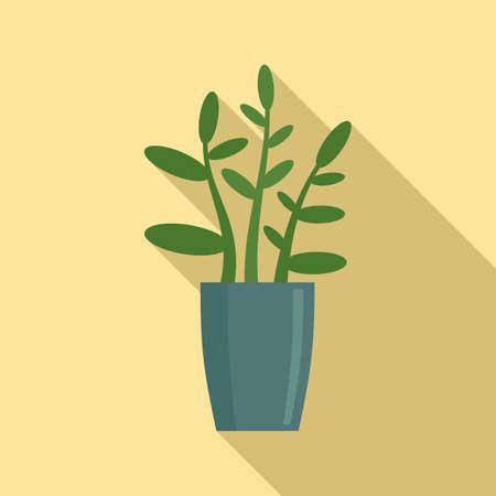 Gardenia plant icon, flat style
