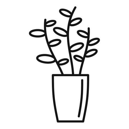 Gardenia plant icon, outline style